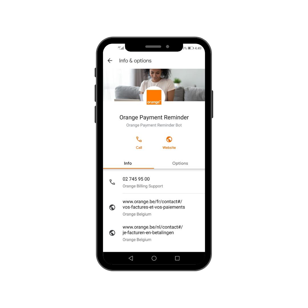 Orange Belgium RCS messaging